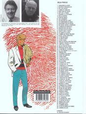 Ric Hochet t.69 ; l'homme de glace - 4ème de couverture - Format classique