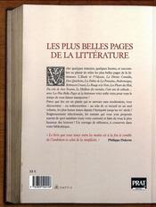 Les plus belles pages de la littérature - 4ème de couverture - Format classique