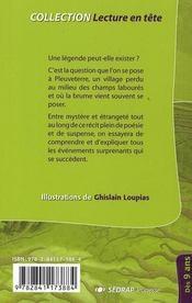 Malelouve des terres à brume ; CM1, CM2 ; roman - 4ème de couverture - Format classique