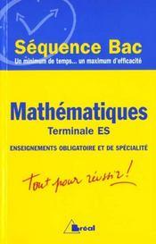Mathematiques terminale es ; enseignement obligatoire et de specialite - Intérieur - Format classique
