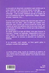 Maitriser Sa Nervosite - 4ème de couverture - Format classique
