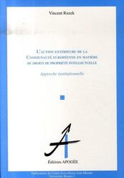L'action extérieure de la c.e. en matière de droits de propriete intellectuelle - Intérieur - Format classique
