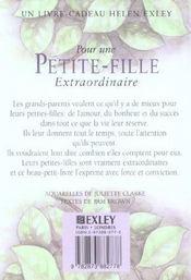 Pour Une Petite Fille Extraordinaire Nlle Edition - 4ème de couverture - Format classique