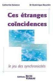 Ces Etranges Coincidences - Couverture - Format classique