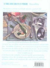 À table avec colette et pauline - 4ème de couverture - Format classique