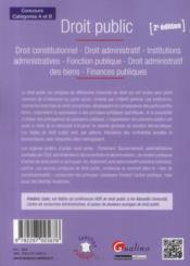 Droit public (2e édition) - 4ème de couverture - Format classique