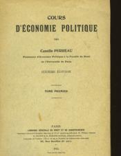 Cours D'Economie Politique - Tome Premier - Couverture - Format classique