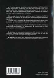 Les Pinschers - 4ème de couverture - Format classique