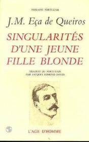Singularites D'Une Jeune Fille Blonde - Couverture - Format classique