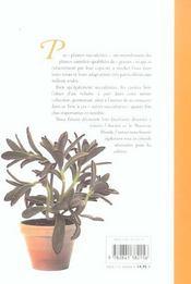 Plantes Succulentes - 4ème de couverture - Format classique