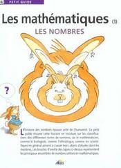 Petit Guide T.102 ; Les Mathématiques T.3 ; Les Nombres - Intérieur - Format classique