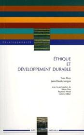 Éthique et développement durable - Couverture - Format classique