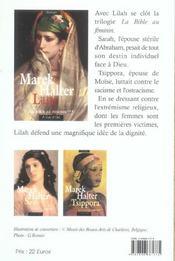 La Bible au féminin t.3 ; Lilah - 4ème de couverture - Format classique