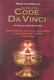 Au-Dela Du Code Da Vinci - Intérieur - Format classique