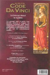 Au-Dela Du Code Da Vinci - 4ème de couverture - Format classique