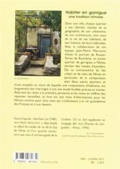 Habiter en garrigue ; une tradition nîmoise - 4ème de couverture - Format classique