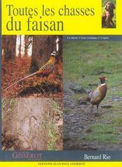 Toutes Les Chasses Du Faisan - Intérieur - Format classique