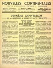 Nouvelles Continentales N°83 du 10/10/1942 - Couverture - Format classique