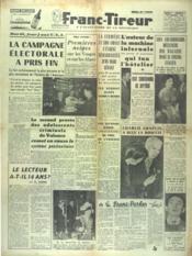 Franc Tireur N°2569 du 01/11/1952 - Couverture - Format classique