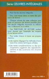 Germinal - Parcours De Lecture - 4ème de couverture - Format classique