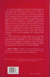 Le National-Socialisme: Vocabulaire Et Chronologie - 4ème de couverture - Format classique