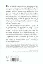 Chretiente Et Democratie - 4ème de couverture - Format classique