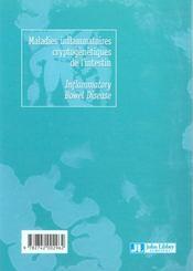 Maladies Inf Crypto Intestin - 4ème de couverture - Format classique