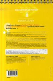 Parasitologie - 4ème de couverture - Format classique