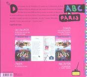 L'abc de paris - 4ème de couverture - Format classique