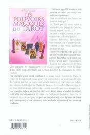 Pouvoirs Magiques Du Tarot - 4ème de couverture - Format classique