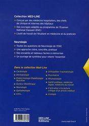 Neurologie (4e édition) - 4ème de couverture - Format classique