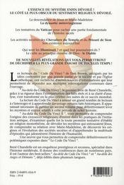 Au Dela Du Code Da Vinci ; Entre Da Vinci Et Lucifer - 4ème de couverture - Format classique