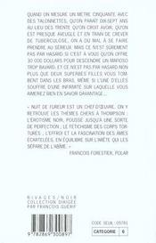 Nuit De Fureur - Rn N 32-1ere Ed - 4ème de couverture - Format classique