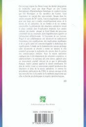 La formation des raisons ; étude sur l'épistemogenèse - 4ème de couverture - Format classique
