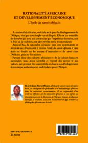 Rationalité africaine et développement économique ; l'école du savoir africain - Couverture - Format classique