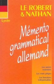 Vente livre :  Rob & nath memento gramm allem  - Grumbach Yves - Yves Grumbach