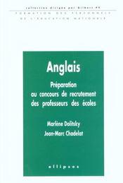 Anglais Preparation Au Concours De Recrutement Des Professeurs Des Ecoles - Intérieur - Format classique