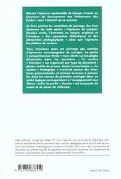 Anglais Preparation Au Concours De Recrutement Des Professeurs Des Ecoles - 4ème de couverture - Format classique