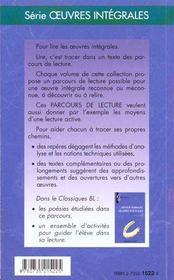 Oeuvres poétiques, d'Arthur Rimbaud - 4ème de couverture - Format classique