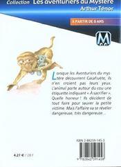 Les aventuriers du mystère t.1 ; l'affaire cacahuète - 4ème de couverture - Format classique