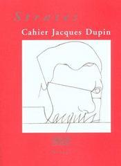 Strates ; cahier Jacques Dupin - Intérieur - Format classique