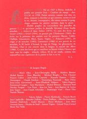 Strates ; cahier Jacques Dupin - 4ème de couverture - Format classique