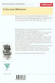 Travail De Memoire 1914-1998 - 4ème de couverture - Format classique