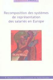 Recomposition Des Systemes Nationaux De Representation Des Salaries En Europe - Intérieur - Format classique