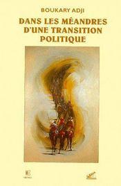 Dans Les Meandres D'Une Transition Politique - Couverture - Format classique