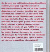 XS, grandes idées, petites structures - 4ème de couverture - Format classique