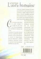 Aura Humaine (L') - 4ème de couverture - Format classique