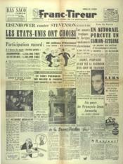Franc Tireur N°2572 du 05/11/1952 - Couverture - Format classique