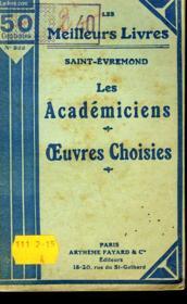Les Academiciens - Oeuvres Choisies - Couverture - Format classique