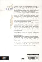 Le mythe de Circé - 4ème de couverture - Format classique